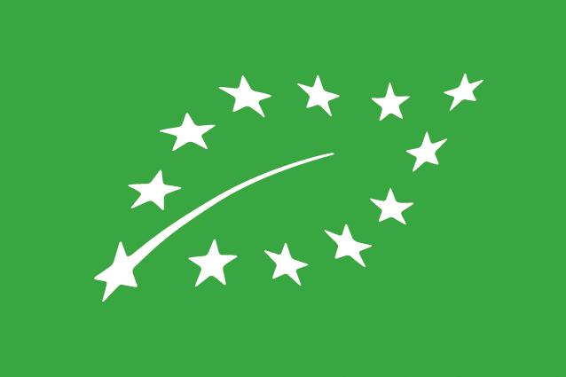 """Logo européen de l'Agriculture Biologique (appelé aussi """"euro feuille"""")"""